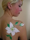 Blumen, body art